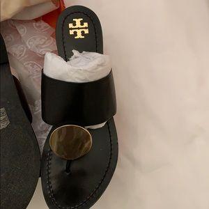 Tory Burch Patos Sandal BLACK/GOLD